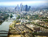 View of Frankfurt with future ECB site in foreground